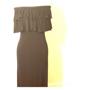 Off The Shoulder Ruffled Maxi Dress